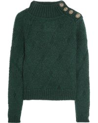 Balmain Chunky-Knit Wool and Mohair-blend Sweater - Lyst
