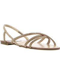 Steve Madden Strappy Diamante Sandals - Lyst