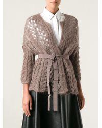 Erika Cavallini Semi Couture Open Knit Cardigan - Lyst