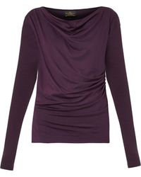 Vivienne Westwood Anglomania Draped Jersey Top - Lyst