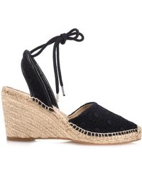 Stella McCartney Emmeline Crochet-Knit Wedge Espadrilles - Lyst