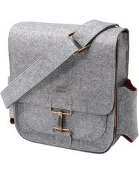 Sons Of Trade - 'journey' Felt Messenger Bag With Water Resistant Lining - Lyst