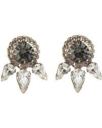 Dannijo Black Ruby Earrings - Lyst