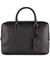 Michael Kors Levato Leather Briefcase - Black