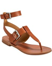 Belle By Sigerson Morrison Reily Thong Sandals - Brown