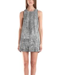 3.1 Phillip Lim Shift Dress With Leather Detail - Lyst