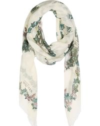 Alexander McQueen Ivory Moth and Skull Scarf - Lyst