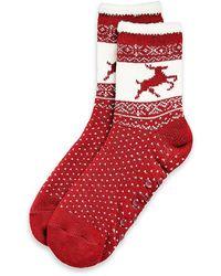Tommy Hilfiger Reindeer Slipper Socks - Lyst