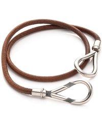 Hermès HermãˆS Brown Atame Bracelet - Lyst
