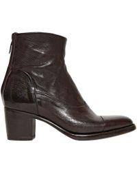 Alberto Fasciani 60mm Buffalo Leather Ankle Boots - Lyst