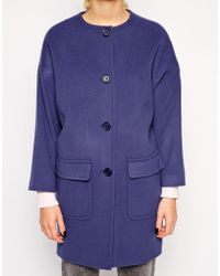 Helene Berman Collarless Coat - Lyst