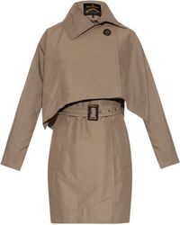 Vivienne Westwood Anglomania - Windsor Removable-Cape Cotton-Blend Trench Coat - Lyst