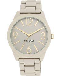 Nine West - Ladies Quartz Matte Beige Bracelet Watch - Lyst
