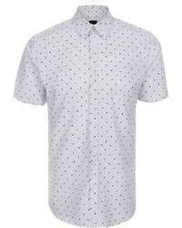Paul Smith White 'Zydeco' Print Short-Sleeve Shirt - Lyst