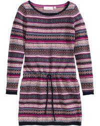 H&M Pink Jacquard-knit Dress - Lyst