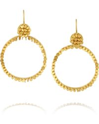 Marie-hélène De Taillac 22-Karat Gold Hoop Earrings - Lyst