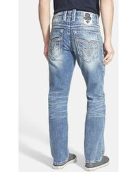 Rock Revival 'Terry' Straight Leg Jeans - Lyst