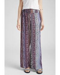 Forever 21 Floral Print Wide-Leg Pants - Lyst