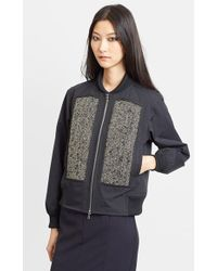 Julien David Beaded Water Repellent Nylon Jacket - Lyst