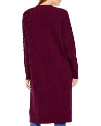 Two By Vince Camuto - Cable Knit Cardigan - Lyst