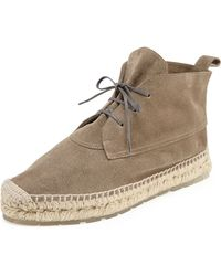 Balenciaga Suede Espadrille Ankle Boot - Lyst
