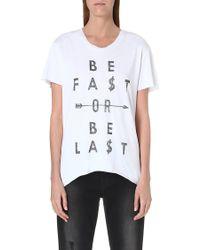 Zoe Karssen Be Fast T-shirt - Lyst