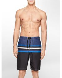 Calvin Klein White Label Striped Boardshorts blue - Lyst
