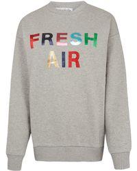 Être Cécile - Grey Fresh Air Sweatshirt - Lyst