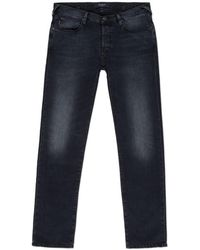 Paul Smith Tapered-Fit Black Mid-Wash Jeans - Lyst