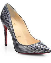 Christian Louboutin Pigalle Follies Snakeskin Pumps - Lyst