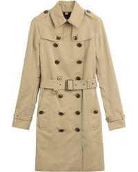 Burberry Brit Felden Cotton Blend Trench Coat - Lyst