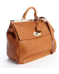 Mulberry Ginger Embossed Leather Classic 'Suffolk' Large Bag - Lyst