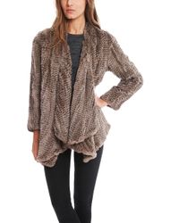 H Brand Ashleigh Rabbit Fur Jacket - Lyst