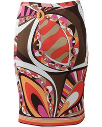 Emilio Pucci Pull-On Pencil Skirt - Lyst