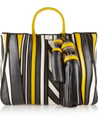 Anya Hindmarch Crazy Maxi Belvedere Leather Appliquéd Suede Tote - Lyst