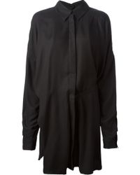 Ann Demeulemeester Oversized Side Strapped Tunic Shirt - Lyst
