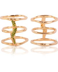 Vara Of London - The Bamboo Leaves Ring - Lyst