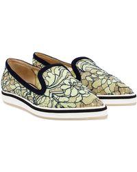 Nicholas Kirkwood Floral Lace Loafers - Lyst