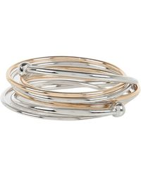 River Island Silver Tone and Gold Tone Bangle Cluster - Lyst