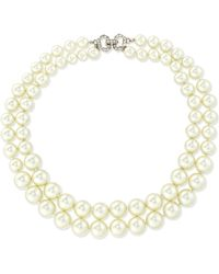 Kenneth Jay Lane - Double-row Pearly Collar Necklace - Lyst