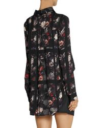 Thakoon - Printed Crepe And Cotton-blend Poplin Playsuit - Lyst