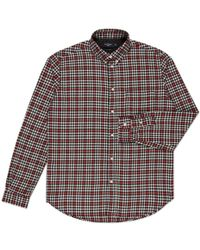 Paul Smith Red And Black Brushed-Cotton Check Shirt multicolor - Lyst