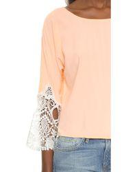 Karen Zambos Madelyn Crop Top - Sand - Pink