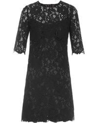 Dolce & Gabbana Corded-Lace Mini Dress - Lyst