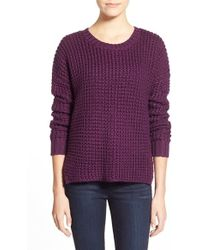 Sam Edelman - 'ashlee' Chunky Knit High/low Sweater - Lyst