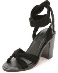 Zimmermann Loop Knot Ankle Tie Heels - Nude black - Lyst