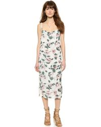 Suno Cowl Tank Dress - All Over Floral Knit - Lyst