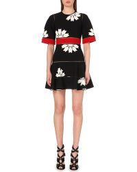 Alexander McQueen Floral Jacquard-Knit Dress - For Women - Lyst