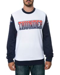 Mitchell & Ness The Oklahoma City Thunder Stop On A Dime Sweatshirt - Lyst