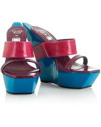 House of Holland - Ss08 X Atalanta Weller Wedges Blue/ Purple - Lyst